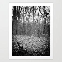 Sitting in Solitude Art Print