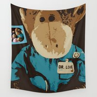 """nurse Wall Tapestries featuring Monkey """"Dr. Love"""" by Ruby and Gunther"""