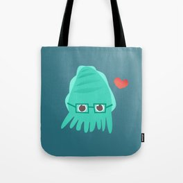 Cuddly the Cuddlefish - heart you Tote Bag