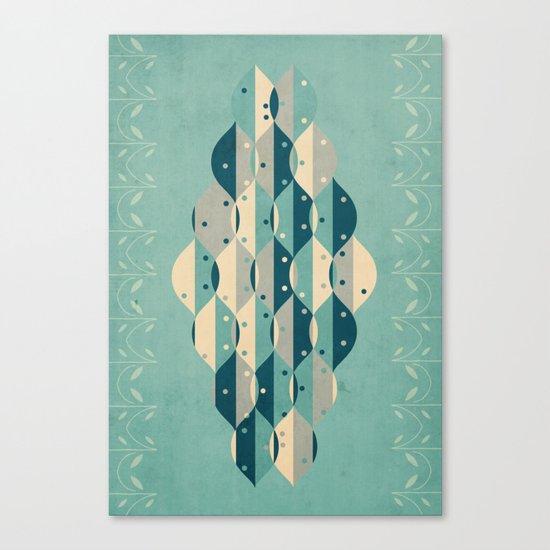 50's floral pattern IV Canvas Print