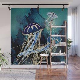 Metallic Jellyfish III Wall Mural