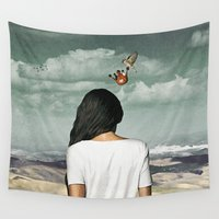 crown Wall Tapestries featuring The Crown by Seamless