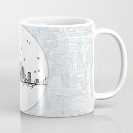 Minneapolis, Minnesota City Skyline Illustration Drawing Coffee Mug