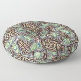 Oysters Collage Floor Pillow