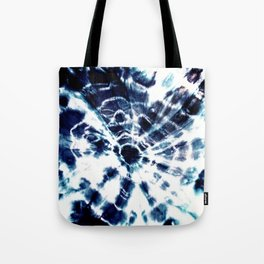 Tie Dye Sunburst Blue Tote Bag