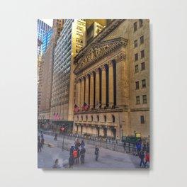 NYSE Metal Print