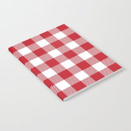 Buffalo Plaid - Red & White Notebook