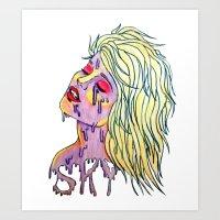 sky ferreira Art Prints featuring Sky Ferreira by Montana