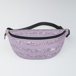 Lavender Glitter Stripes Fanny Pack