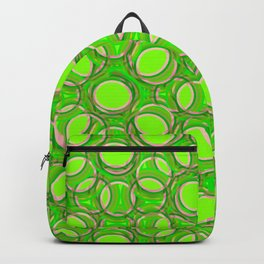 Green Overlapping Circles Backpack