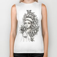 fairy Biker Tanks featuring Fairy by Anca Chelaru