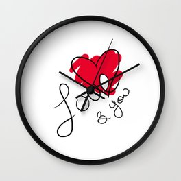 Love & you Wall Clock