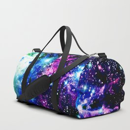 Fox Fur Nebula Dark & Vibrant Duffle Bag