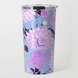 Soft calming lilac spring florals design Travel Mug