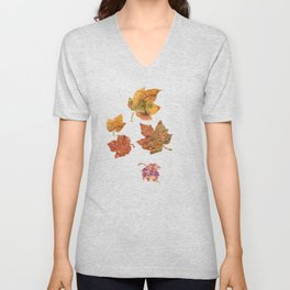 Stairs in the Fall Unisex V-Neck