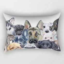 Dog all star, friends original painting print by miart Rectangular Pillow