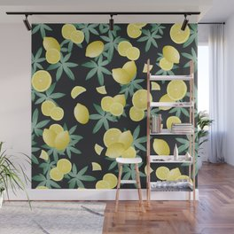 Lemon Twist Vibes #5 #tropical #fruit #decor #art #society6 Wall Mural
