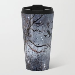 Woodland Crows And Bursting Stars Travel Mug