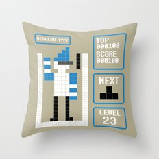 TETRIS: Regular Type Throw Pillow