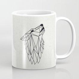 Geometric Howling Wild Wolf Coffee Mug