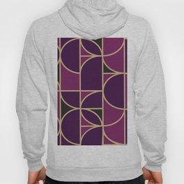 Art Deco Morning Dance In Purple In Big Scale Hoody
