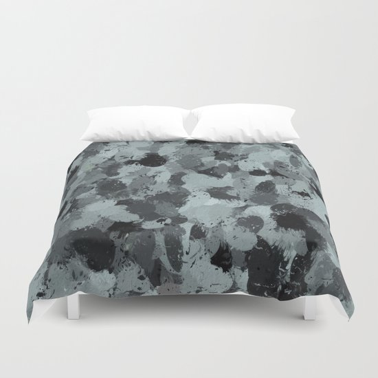 Black and Smokey Blue Pastels 3216 Duvet Cover