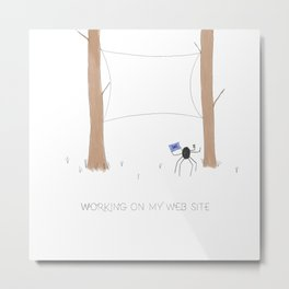 Daily Routine of Web Designers Metal Print