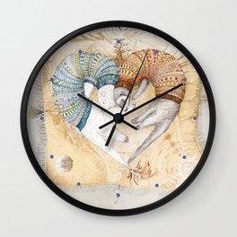 Ferret love Wall Clock