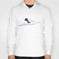 notebook Hoodies featuring Flying Away by Tobe Fonseca