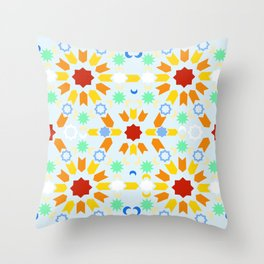Winter Arabesque Throw Pillow