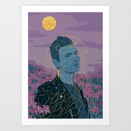 Hamingja - night Art Print