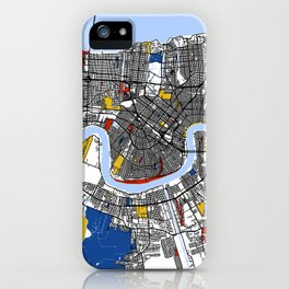 New orleans Mondrian iPhone Case