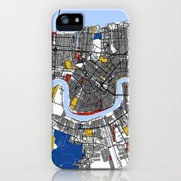 New orleans Mondrian iPhone Case