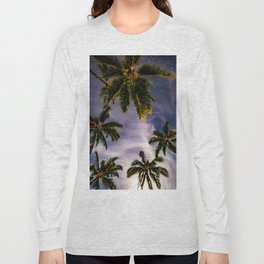 Palm Trees and Stars in Maui Long Sleeve T-shirt