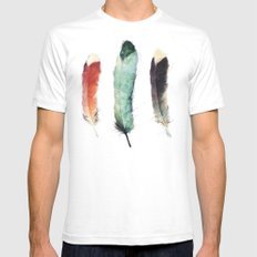 Feathers Mens Fitted Tee LARGE White