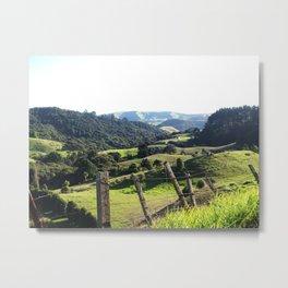 Green Rolling Hills Metal Print