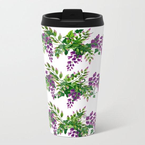 Wisteria and Ivy Metal Travel Mug