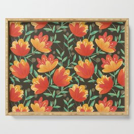 Afternoon Blossoms Serving Tray