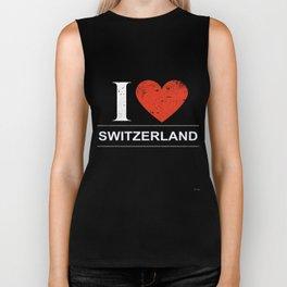 I Love Switzerland Biker Tank