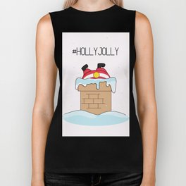 Holly jolly  Santa Biker Tank