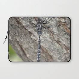 blue dragonfly on wood Laptop Sleeve