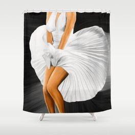 The Legend No2, blonde Shower Curtain