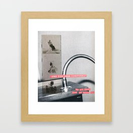 Are You Less Confused Collage Framed Art Print