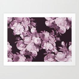 Wine and Roses Art Print