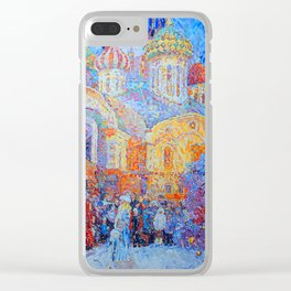 The Temple of the Holy Great Prince Igor of Chernigov in Peredelkino Clear iPhone Case
