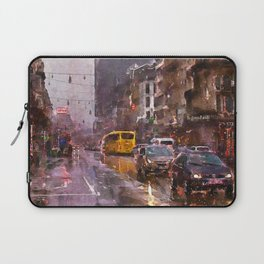 Rainy Day Traffic Laptop Sleeve