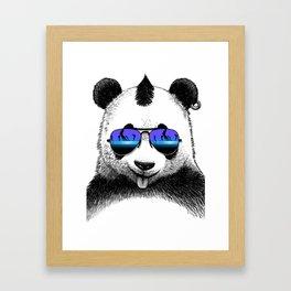 DJ Punk Panda Framed Art Print