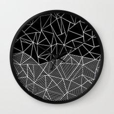 Ab Half and Half Black Wall Clock