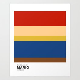 The Colors of Mario Art Print