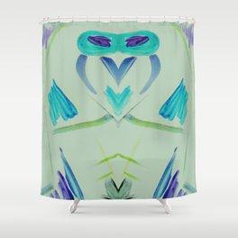 Owl Rocket Shower Curtain